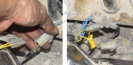 故障现象:空调风扇开关在1、2、3档有风,但压缩机不工作。 检查方法: 1、检查压缩机电源线无电压,压缩机离合线圈电阻正常3.9 2、检查空调控制器3号端子有电压输入,2号端子无电压输出。 3、检查空调控制器5号与6号端子间电阻为无穷大。经检测发现空调单元的热敏电阻线束接头处有一电线断开。 原因:由于热敏电阻线路断路.空调控制器错误感应到蒸发器空气温度在1以下,断开输入压缩机的2号端子的电源输出。 处理方法:重新连接线束后ok